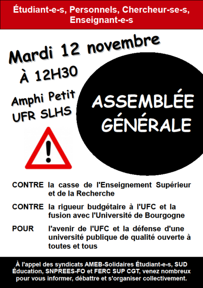 Affiche AG 12-11-2013